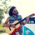 zene · instrumentális · gitár · autó · szabadtér · klasszikus - stock fotó © dolgachov