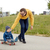 heureux · père · peu · fils · skateboard · famille - photo stock © dolgachov