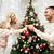 家族 · クリスマスツリー · 美しい · 幸せ · 姉妹 · 弟 - ストックフォト © dolgachov