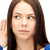 vrouw · luisteren · praatjes · heldere · foto · jonge · vrouw - stockfoto © dolgachov