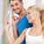 glücklich · Paar · Fenster · hellen · Bild · Frau - stock foto © dolgachov