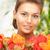 молодые · красоту · лице · букет · природного · цветы - Сток-фото © dolgachov