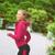 スポーティー · 女性 · を実行して · ジャンプ · 画像 · 美しい - ストックフォト © dolgachov