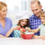 gelukkig · gezin · twee · kinderen · diner · home - stockfoto © dolgachov