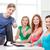 grupy · uśmiechnięty · studentów · edukacji - zdjęcia stock © dolgachov