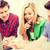 csoport · diákok · tanul · iskola · oktatás · boldog - stock fotó © dolgachov