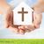 ręce · papieru · domu · krzyż · religii - zdjęcia stock © dolgachov