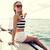 улыбаясь · сидят · яхта · палуба · отпуск - Сток-фото © dolgachov