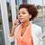 african businesswoman calling on smartphone stock photo © dolgachov