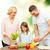 mutlu · aile · pişirme · salata · ev · mutfak · gıda - stok fotoğraf © dolgachov