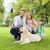boldog · család · labrador · retriever · kutya · park · család · díszállat - stock fotó © dolgachov