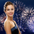 beautiful woman in evening dress over firework stock photo © dolgachov