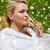 gyönyörű · fiatal · nő · iszik · pezsgő · fürdő · emberek - stock fotó © dolgachov