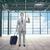 бизнесмен · Воздушные · путешествия · рук · человека · Мир · земле - Сток-фото © dolgachov