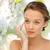 幸せ · 若い女性 · 適用 · クリーム · 顔 · 美 - ストックフォト © dolgachov