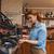 barista · mulher · café · máquina · café - foto stock © dolgachov