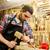 constructeur · marteau · ciseler · maison · construction · travailleur - photo stock © dolgachov