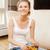 sonriendo · chips · coque · Foto · mujer - foto stock © dolgachov