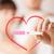nő · férfi · kezek · terhességi · teszt · pár · terhesség - stock fotó © dolgachov