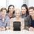 csoport · középiskola · diákok · táblagép · oktatás · emberek - stock fotó © dolgachov