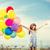 幸せな女の子 · サングラス · 空気 · 風船 · 夏 · 休日 - ストックフォト © dolgachov