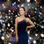 sorrindo · vestido · de · noite · coroa · pessoas · férias - foto stock © dolgachov