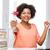 幸せ · アフリカ · 女性 · ノートパソコン · 図書 · 証書 - ストックフォト © dolgachov