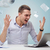 zangado · empresário · laptop · documentos · escritório · pessoas · de · negócios - foto stock © dolgachov