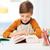 estudiante · nino · lectura · libro · libro · de · texto · casa - foto stock © dolgachov