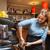 mulher · café · restaurante · sorrindo · sorridente - foto stock © dolgachov