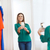 vrouw · smartphone · spiegel · home · kleding - stockfoto © dolgachov