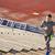 young man running upstairs on stadium stock photo © dolgachov