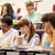 grupy · studentów · piśmie · test · wykład · sali - zdjęcia stock © dolgachov