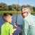 少年 · 釣り · 魚 · 太陽 · 子 - ストックフォト © dolgachov