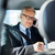 senior businessman calling on smartphone in car stock photo © dolgachov
