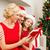 familie · christmas · viering · mooie · jonge · vrouw · ontspannen - stockfoto © dolgachov