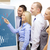 business team with forex chart on flip board stock photo © dolgachov