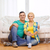 smiling couple sitting on the floor in new house stock photo © dolgachov