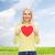 glimlachende · vrouw · Rood · hart · geluk · gezondheid · liefde - stockfoto © dolgachov