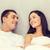 chłopak · patrząc · sympatia · snem · kobieta · uśmiech - zdjęcia stock © dolgachov