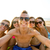 groep · glimlachend · vrienden · strand · vriendschap - stockfoto © dolgachov