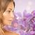 güzel · genç · kadın · orkide · çiçekler · vücut · model - stok fotoğraf © dolgachov