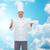 feliz · masculina · chef · cocinar · vacío - foto stock © dolgachov