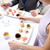 mulher · alimentação · sushi · restaurante · restaurante · de · comida - foto stock © dolgachov