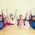 grupo · sorridente · estudantes · mãos · escritório · educação - foto stock © dolgachov