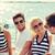 glimlachend · paar · vergadering · jacht · dek · vakantie - stockfoto © dolgachov