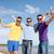 gelukkig · vrienden · bier · flessen · strand · zomer - stockfoto © dolgachov