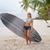 mosolyog · fiatal · nő · szörfdeszka · tengerpart · nyári · vakáció · utazás - stock fotó © dolgachov