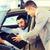 feliz · homem · revendedor · de · automóveis · automático · mostrar · salão - foto stock © dolgachov