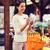 gülümseyen · kadın · satın · alma · meyve · organik · bölüm · süpermarket - stok fotoğraf © dolgachov